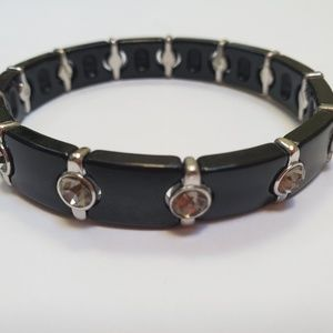 Lia Sophia Black Stretch Bracelet